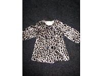 Girls Leopard Jacket