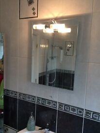 Beautiful Bathroom Mirror with Light