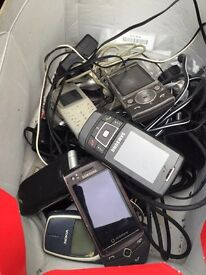 Box of old mobile phones!