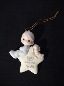"Precious Moments Christmas Ornament ""Baby's 1 st Christmas 1995"" London Ontario image 1"