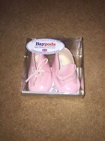 Brand new pink baby boots