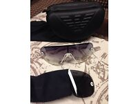 Authentic Giorgio Armani Interchangeable Lenses Sunglasses with Cleaning Cloth and Case Can Deliver