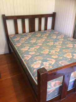 queen bed plus mattress for sale