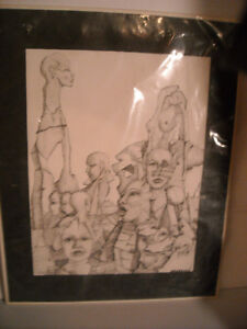 4 Pictures drawn by the artists Beaudoin. Peterborough Peterborough Area image 2