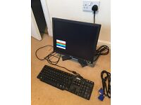 Dell 17 in monitor and keyboard
