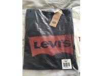 Brand New Men's Black Levi Jeans T Shirt Size XXL