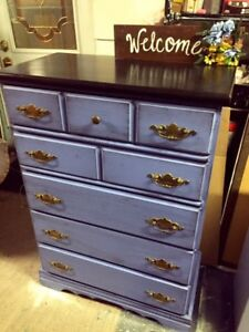 GORGEOUS Wood Accent Dresser with 5 drawers- 135$