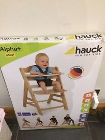 Hauck Alpha wooden Highchair - brand New Still in box