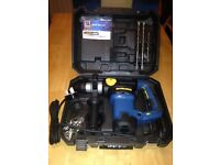 New 230v rotary hammer sds drill in hard case with bits workzone