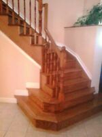 Stairs, Railings, Hardwood Flooring