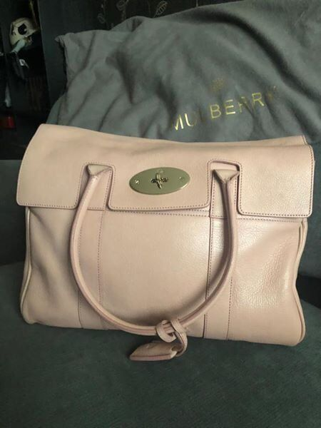 a658c1b3809 LIMITED EDITION GENUINE GLOSSY GOAT MULBERRY BAYSWATER IN BLUSH PINK WITH  PINK SUEDE LINING