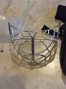 Csa approved cat eye cage, Itech goalie helmet and other hockey
