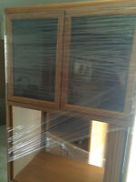 Solid wood entertainment/display unit