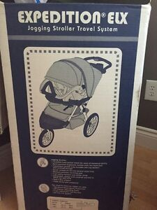 Stroller with infant car seat