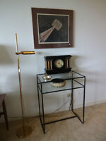 Wrought Iron Table with Shelf - Also a Mirror