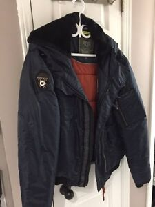 Point Zero blue winter bomber coat