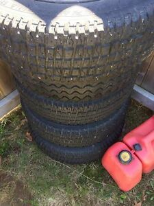 """13"""" winter tires and rims (5) 4 bolt, need gone asap"""