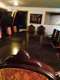 Reproduction grand dining table 12 chair