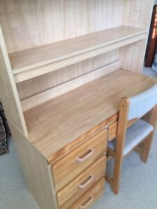 Child's bedroom set.  Solid birch drawer fronts and headboard.  Strathcona County Edmonton Area image 4