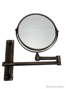 extending magnifying bathroom mirror bronze extendable wall bathroom 3x magnification vanity 18259