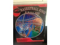 Brand new basket ball ring and ball