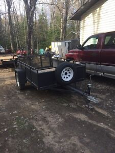5x8 with double fold ramp in great shape. new tires
