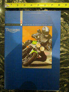 TRIUMPH 2003 MOTORCYCLE CLOTHING AND ACCESSORIES CATALOG