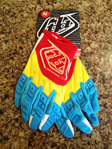 Brand new Troy lee designs GP MX Glove (Blue/Yellow)