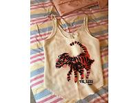 Zara top with animal logo, capitone feeling, Large size,