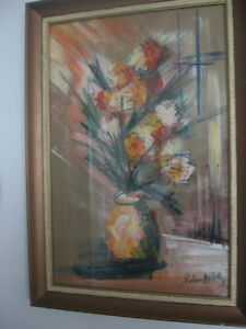 original oil painting with matching frame by Pearlmutter