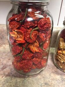 Dehydrated Carolina Reaper peppers Kitchener / Waterloo Kitchener Area image 1