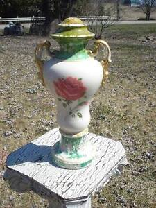 Porcelain lamp base , totally shabby chique or gypsy junque for