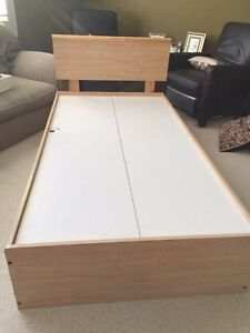 Child's bedroom set.  Solid birch drawer fronts and headboard.  Strathcona County Edmonton Area image 6