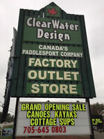 Clearwater Designs New Factory Outlet Now Open in Muskoka!!!