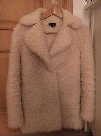 Topshop cream coat