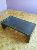 Ikea glass-top coffee table