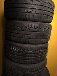 Four 245/40/18 winter tires
