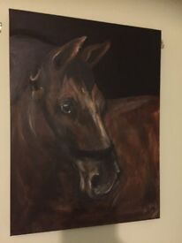 Painting on canvas. Horse