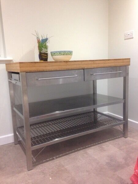 Ikea workbench kitchen island in barnstaple devon for Ikea rimforsa work bench