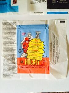 VINTAGE 1980's O-PEE-CHEE HOCKEY WAX PACK WRAPPERS X3 London Ontario image 2