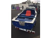 13ft fishing boat with cabin and trailer