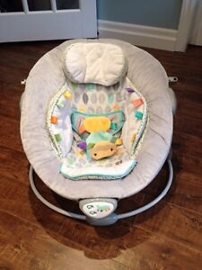 Musical/Vibrating taggies Baby chair $20
