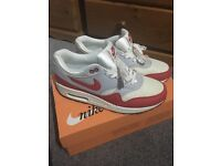 Size 7 Nike air max 1 OG - white red and grey