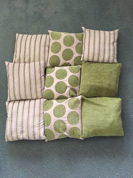 Green cushion collection