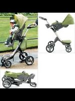 Stoke Xplory Stroller with multiple accessories