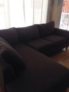 Stylus Fabric Sectional Sofa