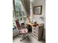 Solid wood desk