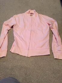 Pink Ben Sherman zip up top size small