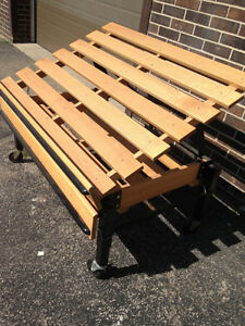 wooden Produce Display Table/stand (used) 4ft