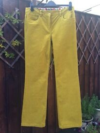 Boden trousers in antique gold fine cord. 14L
